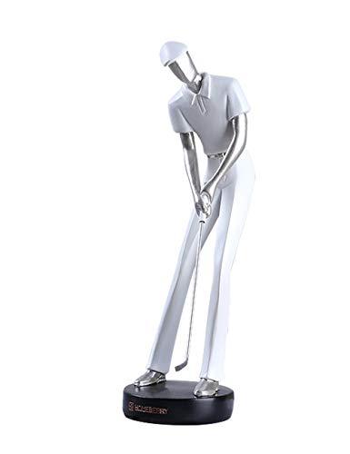 HomeBerry 24cmH Polyrésine Golfeur Figurine Sculpture Statue décoration de Maison Polyresin...