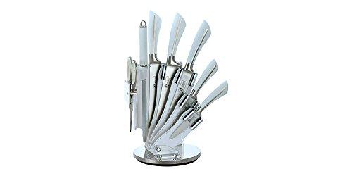 Set de 5 couteaux en inox avec support acrylique aiguisoir et ciseau Royalty Line KSS750