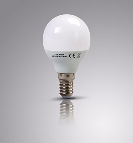 4-x-laptronix-led-golf-bulbs-g45-5w-3000k-e14-round-chandelier-light-60w-eq-4-pk