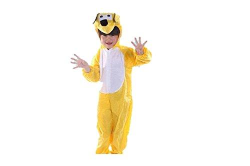Matissa bambini costumi animali ragazzi ragazze unisex pigiama fancy dress outfit cosplay bambini onesies (cane giallo, l (per bambini 105 - 120 cm di altezza))