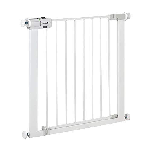 Safety 1st Easy Close Metal Cancelletto di Sicurezza per Bambini/Cani/Scale, Si Fissa a Pressione senza Forare il Muro, in Metallo, Bianco