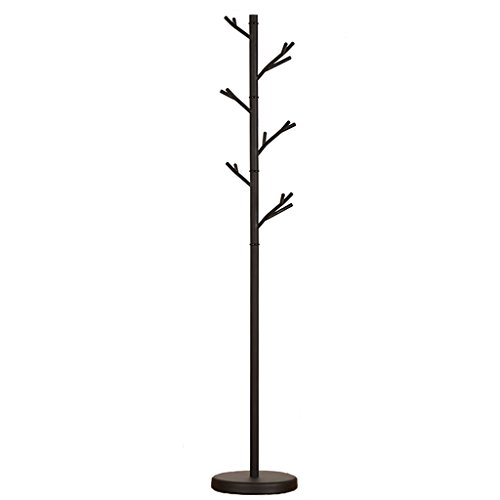SKC Lighting-Porte-manteau Iron Creative Coat Rack Indoor Room Hanging Hanger Vertical Floor Trees Étagère en tissu (Couleur : Noir)
