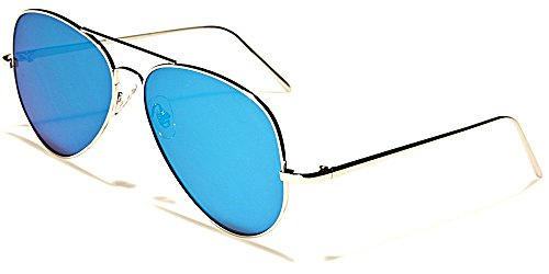 Aviator Sonnenbrillen Fashion Modus Stadt Strand Motorradfahren Verhalten/Costa Blau Cyan Iridium Flat Lens