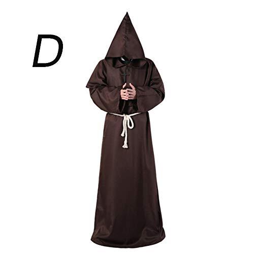 Robe D'halloween Kostüm - Jcyanz Terrorist Death Kostüm Damen Halloween Kostüm Mönch Cosplay Mantel Robe Halloween Kostüm Weiblicher Teufel Gruseliges Kostüm,D,M