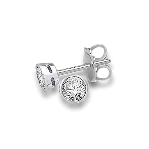 0.20ct G/SI1 Diamond Stud Earrings for Women with Round Brilliant