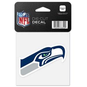 Seahawks 63080012perfekten Schnitt Farbe Aufkleber, 10,2x 10,2cm ()