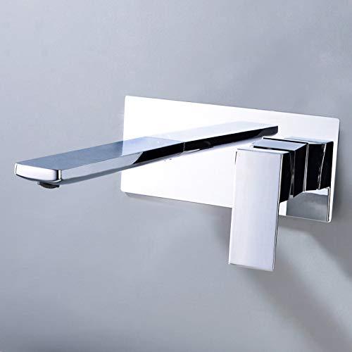 Pujishi Chrome All-Kupfer Dark Installation Hot And Cold Wasserhahn Hotel Househouse Villa Wasser Dragon Head Versteckte Vorverlegte Box Tap Set