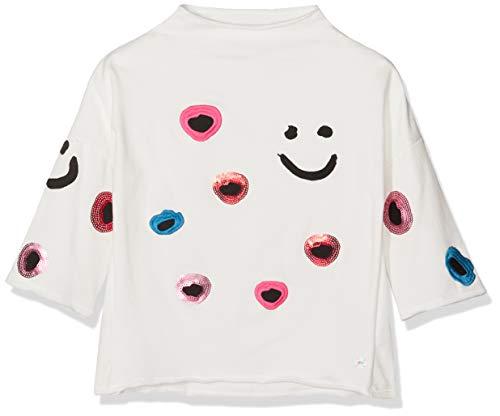 NOP Mädchen Sweatshirt G Sweater ls Woburn, Mehrfarbig (Off White C010), 152
