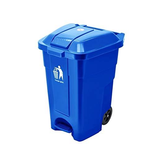 LJ-KK SxsZQ Bote de Basura con Pedales, Cubo de Basura de plástico Grande de 50 litros / 70 litros...