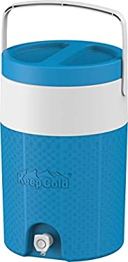 Cosmoplast MFKCXX003B2 Keep Cold Plastic Insulated Water Cooler 2 Gallon - Light Blue, 9 Litres