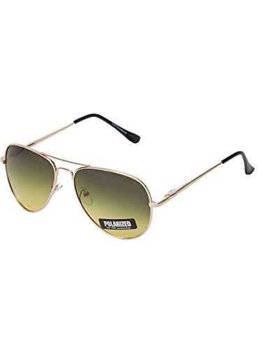 Vast Polar Vision Polarized Aviator Late Evening Wearable Sunglasses (Polo5027 Gold 62 See ThroughLens)