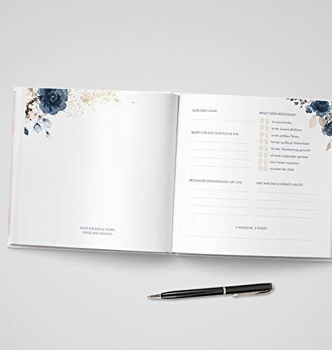 Gästebuch mit Fragen |Watercolor Breeze, rosé