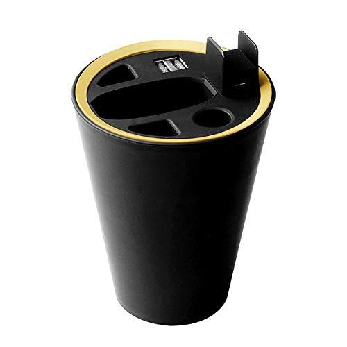 Aegilmc Cup Charger Für IQOS 2.4, Schwarzer Desktop-Halter Auto-Aschenbecher USB Fast Charger Zubehör Tragebox Für Elektronische Zigarette IQOS