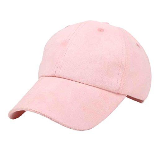 Vovotrade Hip-Hop di alta qualità esterna cappello Snapback Berretto da baseball (rosa)