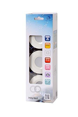 Lucide Inky de LED-Foco-Diámetro 8cm-LED DIM.-1x 6W 2700K-IP65-Multi färben-Juego de 3