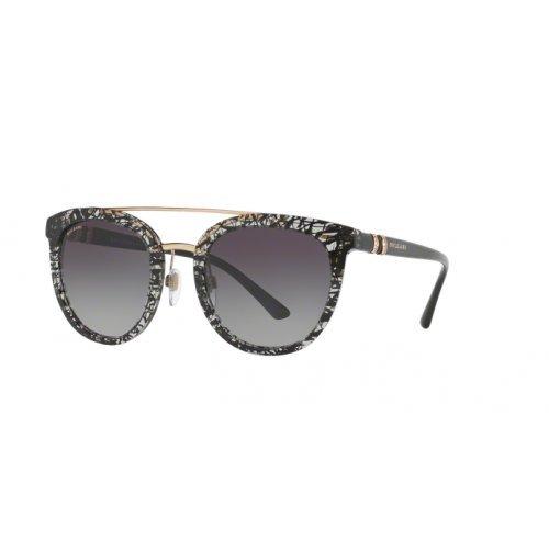 Bulgari Damen 0Bv8184B 53768G 53 Sonnenbrille, Schwarz (Blackan/Grey)