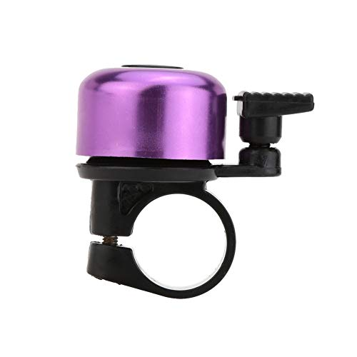 TrifyCore Haltbare Metall Fahrrad Bell Mountain Bike Bell Clear Sound Glocke für Fahrrad Mountainbike Kinderfahrrad Lila