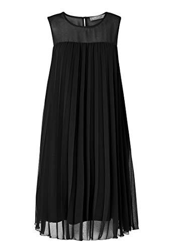HALLHUBER Ausgestelltes Plissee-Kleid A-Linie schwarz, 38