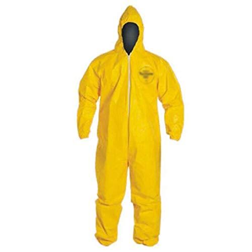 Tuta protettiva, indumenti protettivi chimici, antipolvere, resistente agli acidi e agli alcali, antistatico adatto for irrorazione di pesticidi, smaltimento di sostanze chimiche, giallo ( Size : M )