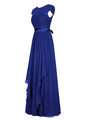 Dresstells, Robe de soirée, robe de cérémonie, robe longue de demoiselle d'honneur Bleu Saphir
