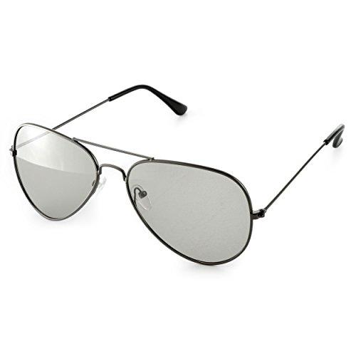 4er Set 3D Brillen (Pilotenbrille) für passives 3D TVs, PC-Spiele oder Kino RealD, Passivbrille (zirkular polarisiert) Farbe: schwarz, Marke Ganzoo