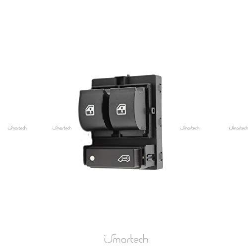Aerzetix: Commodo Fensterheber schalter Knopfschalter kompatibel6490.X8 6490.X9 6554.XN für Auto C18713