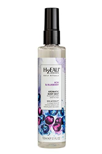 H2EAU LONDON Acai & Blueberry Body Mist With Real Fruit Extracts 150ml