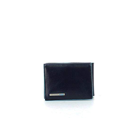 Piquadro Portafoglio Uomo Collezione Blue Square Portamonete, Pelle, Blu Scuro, 10 cm
