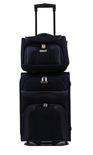 Travelite Orlando Trolley 53 cm + Beauty Case in 3 Farben (Schwarz) -