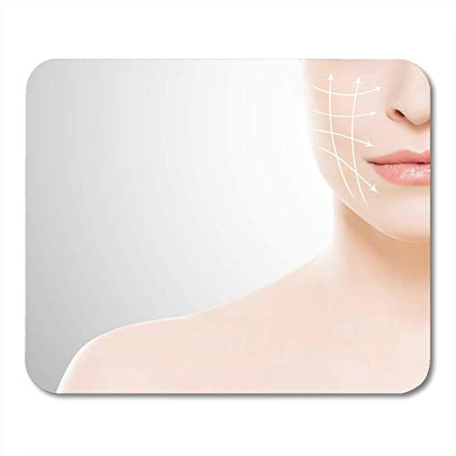 Mouse Pads Close Up Portrait of Beautiful Fresh Healthy and Sensual Girl with Arrows on Her Face Medicine Spa Mouse Pad for notebooks,Desktop Computers mats 7.08 (L)x 8.66 (W) inch Office Supplies