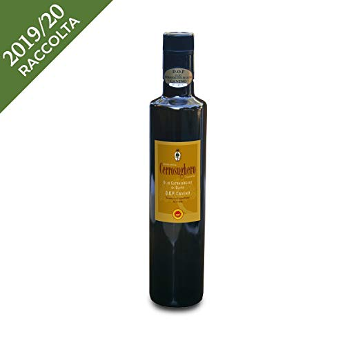 Olio extravergine di oliva canino - cerrosughero - lazio - bottiglia di vetro - ml - caninese - dop