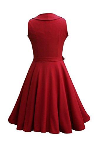 Eyekepper Veste Femme demoiselle annees 1950 vintage robe serenite Bordeaux