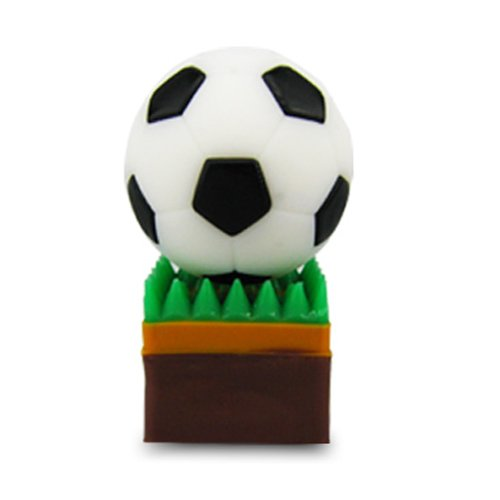 818-Shop No50100090016 Hi-Speed 2.0 USB-Sticks 16GB Fußball Rasensport 3D weiß