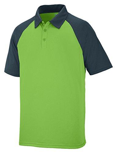Augusta Sportswear uomini di Scout Maglietta sportiva a maniche lunghe LIME/SLATE