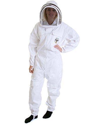 Simonthebeekeeper - Imker Anzug Bienen Anzug Weiße Leder Handschuhe L