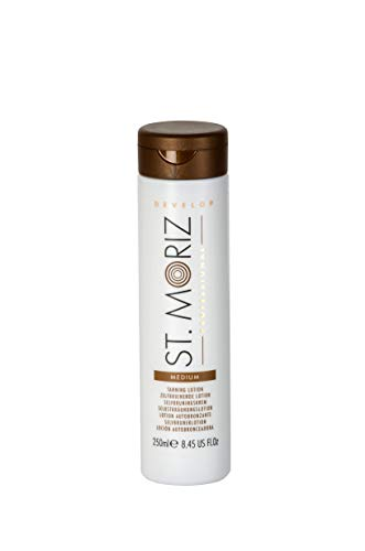Gradual Tanner (St. Moriz Professional Selbstbräunungs Lotion Medium, 1er Pack (1 x 250 ml))