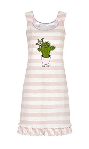 Ringella Damen Nachthemd mit Blockringel Offwhite-Rose 42 9211019, Offwhite-Rose, 42