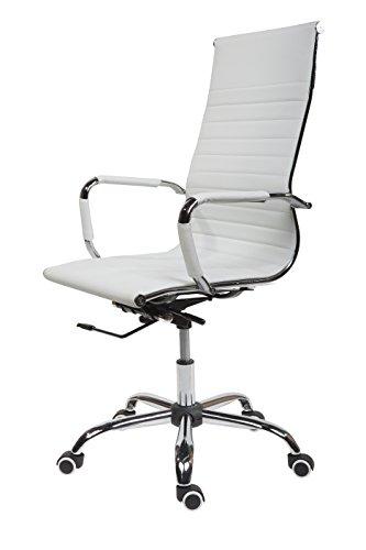Design Bürostuhl Chrom Rahmen Elegance Chefsessel Drehstuhl Konferenzstuhl...