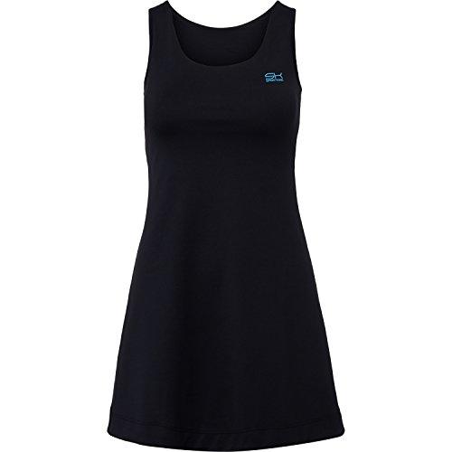 Sportkind Mädchen & Damen Tennis / Hockey / Golf Trägerkleid, schwarz, Gr. M