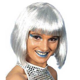 Orlob 30192.30 Fancy dress wig Kostüm-Zubehör, Fancy dress wig, Erwachsene, Damen, weiß, 1 ()