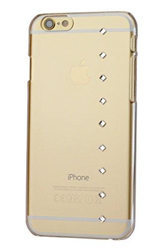 Diamond cover cover q 9 con elementi sky swarovski per apple iphone 6, trasparente