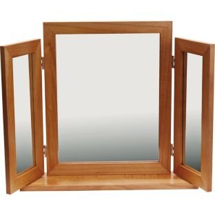 Triple Oak Effect Dressing Table Mirror (662401633)