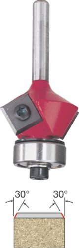 Freud 43-212 30-Degree Insert Bevel Trim Router Bit with 1/4-Inch Shank by Freud