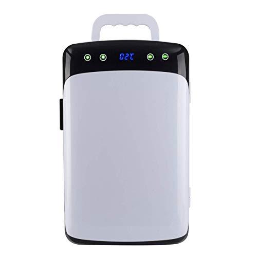 L@LILI Mini Fridge mit CNC-Dual-Core-Cools & Heats 12 Liter Capacity Compact Kühlschrank-inklusive Plugs for Home Outlet AC & DC Car Charge,