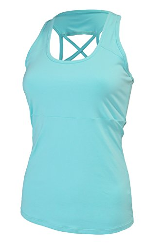 Naffta Fitness Camiseta Tirantes, Mujer, Verde (Aruba), XL