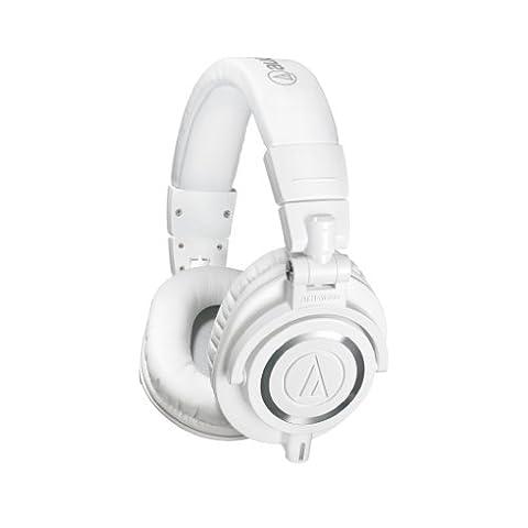 Audio-Technica ATH-M50XWH Casque audio professionnel de monitoring avec câble détachable Blanc
