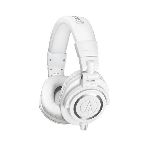 Audio-Technica ATH-M50X - Auriculares de diadema cerrados, color blanco