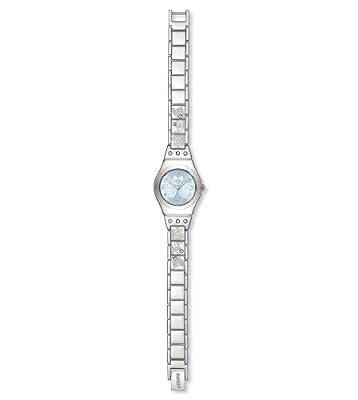 Reloj de mujer Swatch Irony Lady Flower Box Yss 222G de cuarzo, correa de acero inoxidable color plata de Swatch