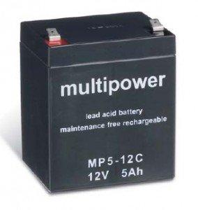 Preisvergleich Produktbild Multipower Blei-Akku 12V / 5Ah MP5-12C, 12V, 5000mAh, Pb [Elektronik]