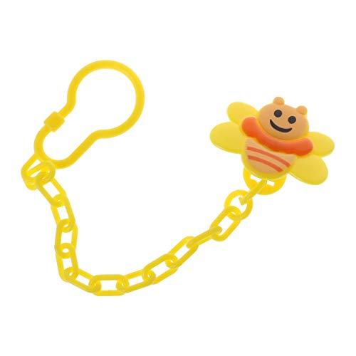 , Baby-Schnuller, mit Cartoon-Motiv Biene, niedliche Kette, Brustwarzenhalter, Zahn, Schnuller, Schnuller, Schnuller, Haken ()